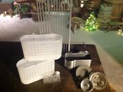 Set Of 8 Kitchen Cleaning Organizers Sink Strainers Holders Dish Drainer Etc.