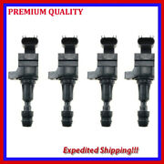 4pc Ubu337 Ignition Coil For Buick Verano 2.0l L4 Turbocharged 2013 2014