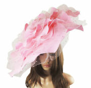 Candy Pink Extra Large Fascinator Ascot Kentucky Derby Proms Sample Sale