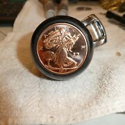 Zombie Liberty .999 Copper Coin Steering Wheel Suicide Knob Spinner Fits Most