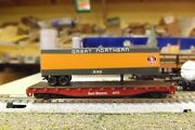 N-scale Custom Painted Great Northern Gn 45and039 Tofc