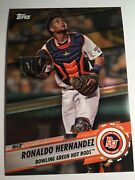 2019 Topps Pro Debut Leaps And Bounds 5x7 Ronaldo Hernandez Hot Rods 01/10