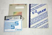 Vintage Sirius Software E-z Draw 3.3 For Apple Ii, 5.25 Disk And Manual, Diskware