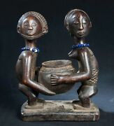 Luba Devination Bowl D.r. Congo Central African Tribal Arts