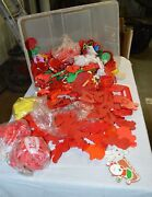 220 Plastic Cookie Cutters 1970's To Present Christmas Halloween Easter Etc