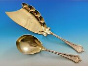 Persian By And Co Sterling Silver Ice Cream Set Scalloped Gw 11 5/8