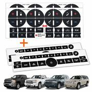 Traderplus 4pcs Replacement Ac Control Dash Button Stickers For 2007-2015 Gm Gmc