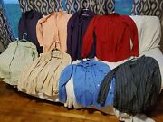 Huge Lot Of Mens Button Shirts L Calvin Klein Arrow Us Expedition Jf Apt 10