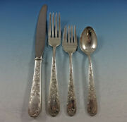 Old Maryland Engraved By Kirk Sterling Silver Flatware Set 6 Service 24 Pieces