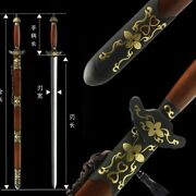 Lily Double Edge Sharp Sword Traditional Forging Pattern Steel Blade Sharp 011