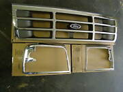 Nos 1992 - 1996 Ford Truck F150 + Bronco Grille 1993 1994 1995 F250 F350 Oem New