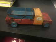 9 Inch Vintage Old Metal Wooden Old Toy Truck Unmarked 1940's Antique