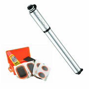 Lezyne Road Drive Bike Hand Pump Presta Valve Small Silver With Patch Kit