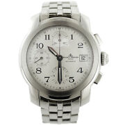 Baume And Mercier Capeland Mv045216 White Dial Stainless Steel Auto Chrono Watch