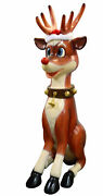 81.5 Funny Reindeer 7ft Statue Large Christmas Decoration Collectible