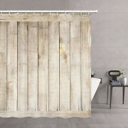 Rustic Gray Wooden Panels Shower Curtain Wooden Board Wood Plank Bath Curtains