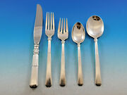 Epic By Gorham Sterling Silver Flatware Set For 8 Service 44 Pieces Art Deco