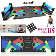 9in1 Push Up Rack Board Stands System Fitness Workout Train Gym Exercise Us
