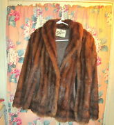 Vintage Circa 1950and039s Womenand039s Brown Mixed Fur Duplers Fur Coat Excellent Conditio