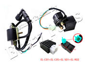Atv Ignition Coil Cdi Regulator Rectifier Relay For 50 70 90 110 Cc Chinese Quad