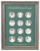 Norman Rockwell's Spirit Of Scouting Sterling Silver 12 Proof Medal Set Vintage