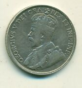 Canada 50 Cents 1914 Avf Cleaned