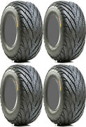 4 Gbc Afterburn Street Force Atv Tires Set 2 Front 26x9-14 And 2 Rear 26x11-14