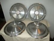 Vintage 1970and039s Chevrolet 14 Hub Cap Chevy Wheel Cover Bow-tie Emblem - Set Of 4