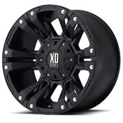 20x10 Black Wheels Xd822 Monster 2 2007-2021 Lifted Jeep Wranglers 5x5 -24mm