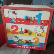 1976 Vintage Hello Kitty Toy Collectible Japan Anime Chest 3 Levels F/s