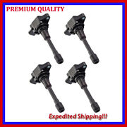 4pc Ignition Coil Jns2877 For 2009 2010 2011 2012 2013 2014 Nissan Rogue 2.5l L4