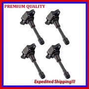 4pc Ignition Coil Jns2877 For 2005 2006 2007 2008 2009 Nissan Frontier 2.5l L4