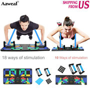9/18 In 1 Push Up Rack Board System Fitness Workout Train Gym Exercise Stands