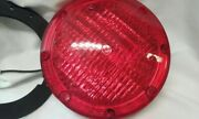 Vintage Weldon 1020 Round Red Replacement Lamp Bus, Fire Dept, Ect
