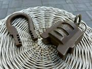 Antique Large Padlock With One Working Key Unique Made In Russia 27-01 Over 1kg