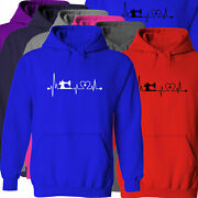 Sewing Heartbeat Lifeline Machine Gift Hobby Sew Unisex Pullover Hoodie Sweater