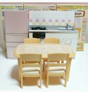Puchio Kitchen Cook Table Chair Set Doll House Size Collectible Toy Hobby Japan
