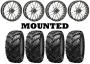 Kit 4 Interco Reptile Tires 30x10-14 On System 3 St-3 Machined Wheels Irs