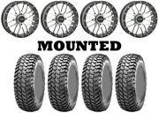 Kit 4 Maxxis Liberty Tires 28x10-14 On System 3 St-3 Machined Wheels H700