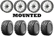 Kit 4 Maxxis Bighorn 3.0 Tires 29x9-14 On System 3 St-3 Machined Wheels Irs