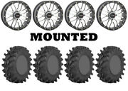 Kit 4 Sti Outback Max Tires 30x10-14 On System 3 St-3 Machined Wheels H700
