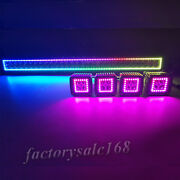 32 Inch Led Light Bar With Rgb Halo Ring + 4x 3 Cube Halo Pods Truck Boat
