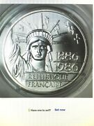 1986 100 Franc Francaise/republic Of France Silver 1oz Liberty Coin Set Of Two