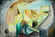 Raymond Trameau - Painting Original - Watercolour - Composition Abstract 15