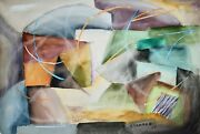 Raymond Trameau - Painting Original - Watercolour - Composition Abstract 10