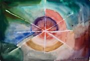 Raymond Trameau - Painting Original - Watercolour - Composition Abstract 17