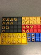 Lot Of 36 End Mill Insert Cutters, Types In Description