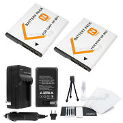 2x Np-bn1 Battery + Charger + Bonus For Sony Dsc-wx5 Wx7 Wx9 Wx50 Wx150