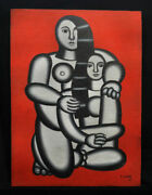 Fernand Leger Painting On Wood Signed
