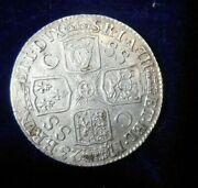 1723 Ssc Shilling, C/ss In 3rd Quarter Uk Great Britain George I Silver Rare Ef